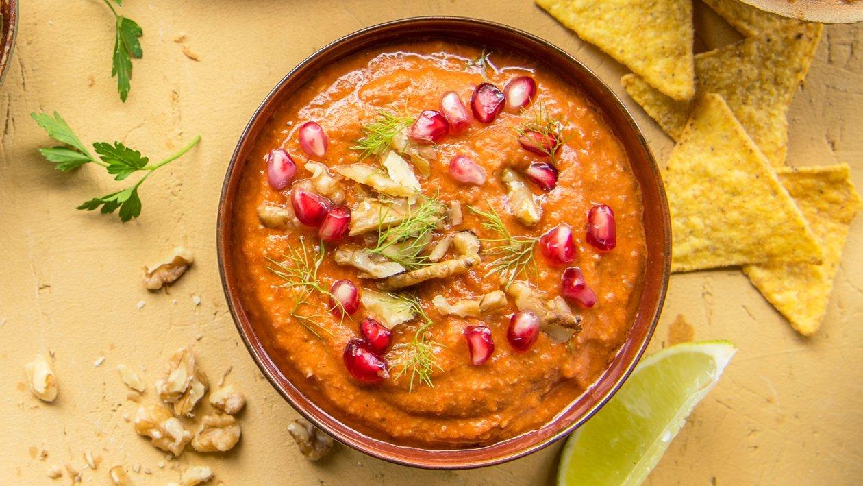 Muhammara syrien aux tomates, poivrons et noix – Recette