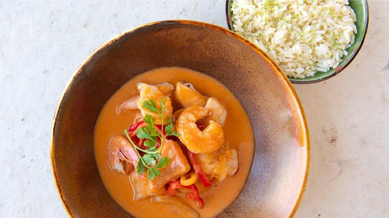 Pot-au-feu de poisson brésilien, riz – Recette