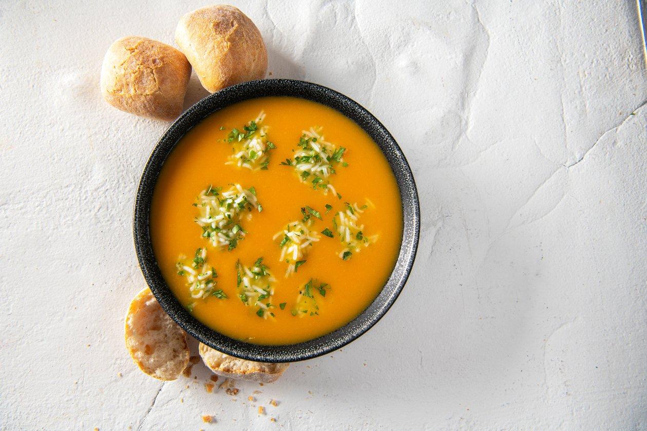 Potage au potiron avec gingembre, coriandre et basmati – Recette