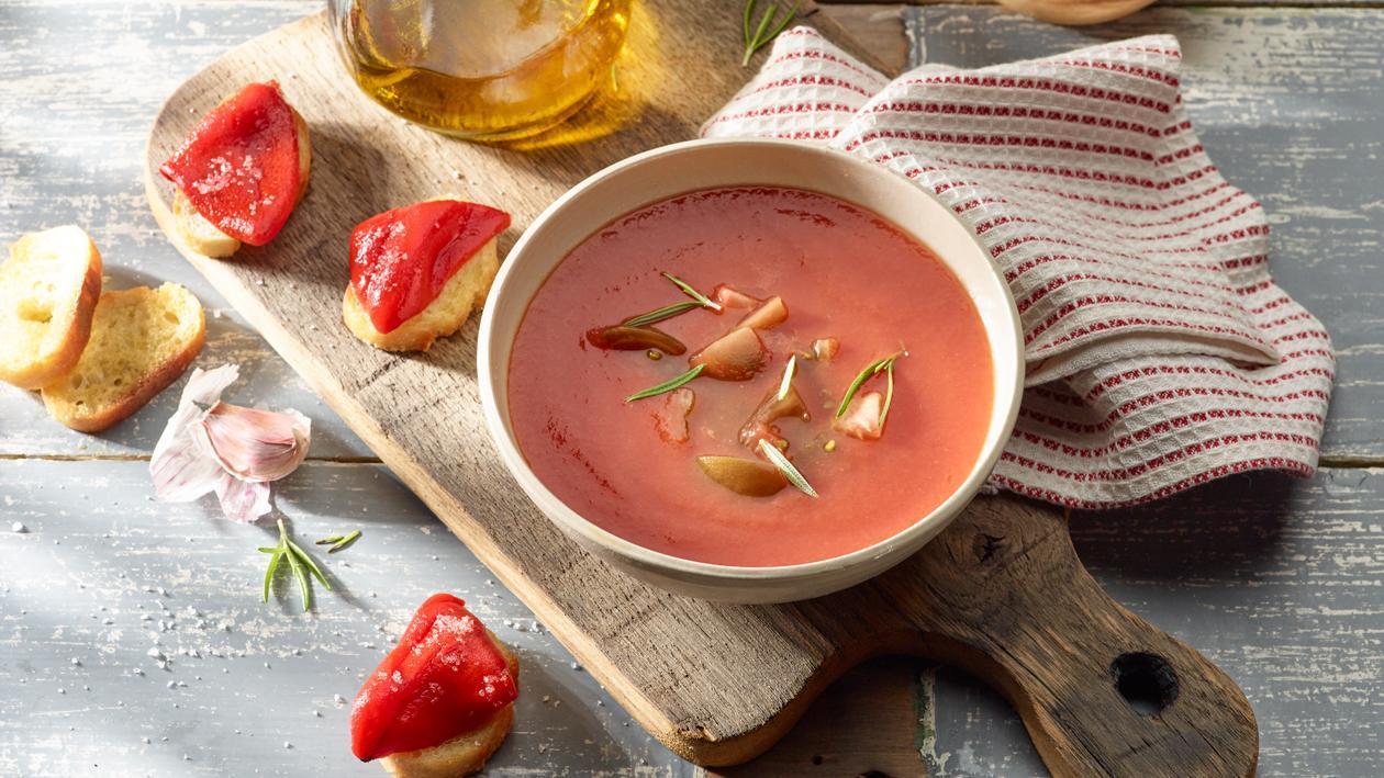 Potage Toscan aux tomates avec poivrons grillés – Recette