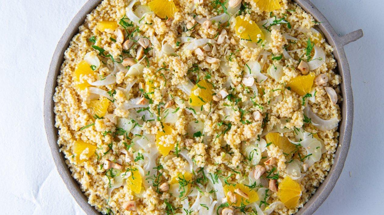 Salade de boulgour au fenouil et à l'orange – Recette