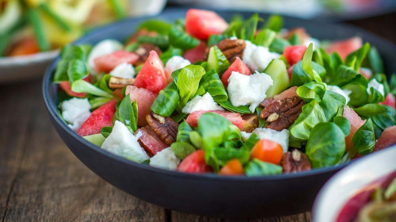 Salade de pastèque et de mâche – Recette