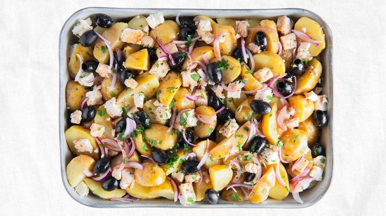 Salade de pommes de terre à la grecque – Recette