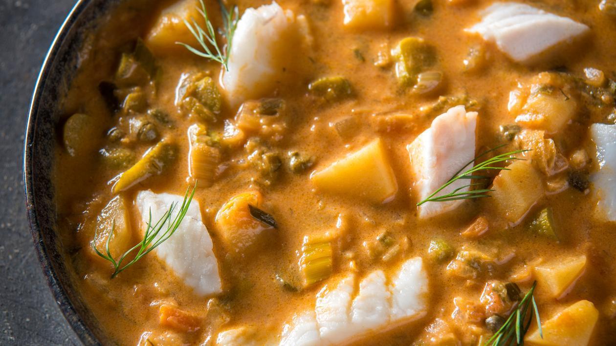 Soupe de poisson et de pommes de terre à la russe – Recette