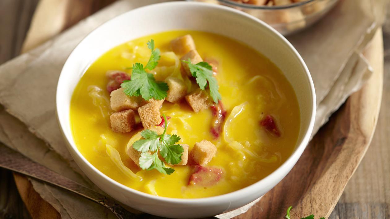 Soupe de puréé de carottes à la choucroute – Recette