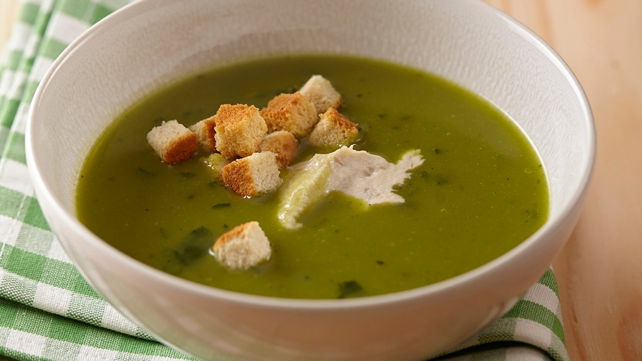 Soupe d'épinards au fromage frais et au maquereau – Recette
