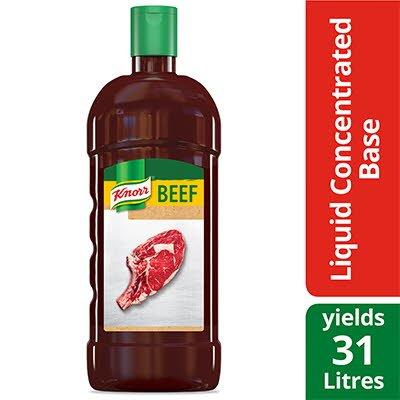 Base de bœuf liquide concentrée knorr® sans gluten 946 ml, paquet de 4