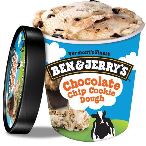 Ben & Jerry's Chocolate Chip Cookie Dough 8 x 473 ml -