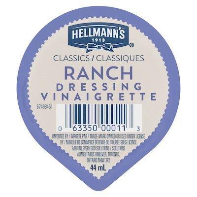 Gobelet pour trempette – Vinaigrette Ranch Hellmann's® Classiques, 44 ml, paquet de 108 -