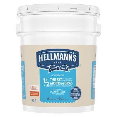 Hellmann's® 1/2 Moins de Gras Mayonnaise Légère Seau 1 x 20 L -