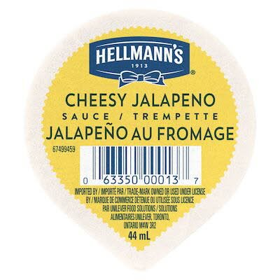 Hellmann's® Cheesy Jalapeno Sauce Dip Cup 44 ml, pack of 108 -