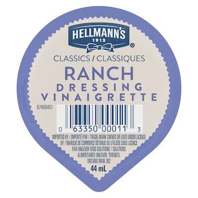 Hellmann's® Classics Ranch Dressing Dip Cup 44 ml, pack of 108 -
