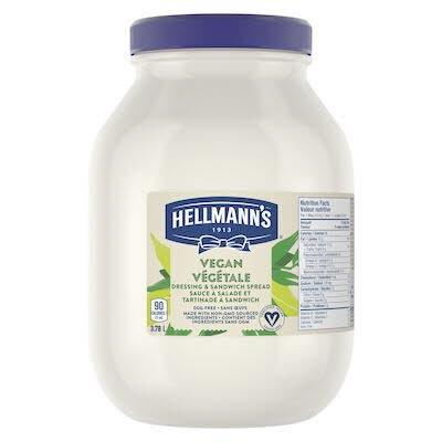 Hellmann's Vegan Mayo 3.78 litre, paquet de 2 -