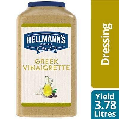 Hellmann's® Vinaigrette Grecque 2 x 3.78 L - Agrémentez vos meilleures salades de vinaigrettes qui ont l'aspect, le goût et l'effet d'une vinaigrette maison.