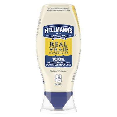 Hellmann's® Vraie Mayonnaise Bouteille à Presser 8 x 340 ml -