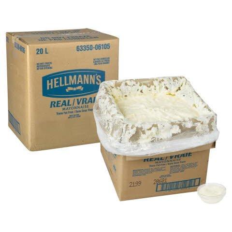 Hellmann's® Vraie Mayonnaise Sac en Boîte 1 x 20 L -