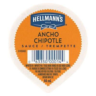 Hellmann's® Ancho Chipotle - Gobelet pour trempette, 44 ml, paquet de 108 -