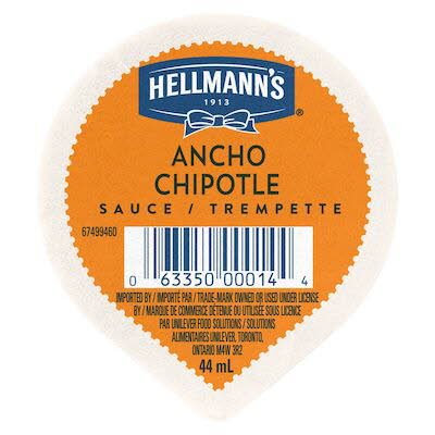 Hellmann's® Ancho Chipotle Sauce Dip Cup 44 ml, pack of 108 -