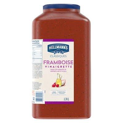 Hellmann's® Classiques Vinaigrette à la framboise, pichet de 3,78 litres, paquet de 2 -