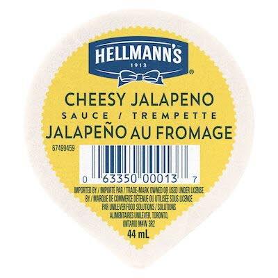 Hellmann's® Jalapeño au Fromage - gobelet pour trempette – Trempette, 44 ml, paquet de 108 -