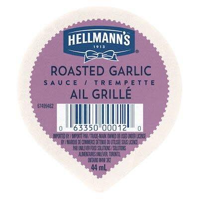 Hellmann's® Trempette Ail Grillé 108 x 44 ml -