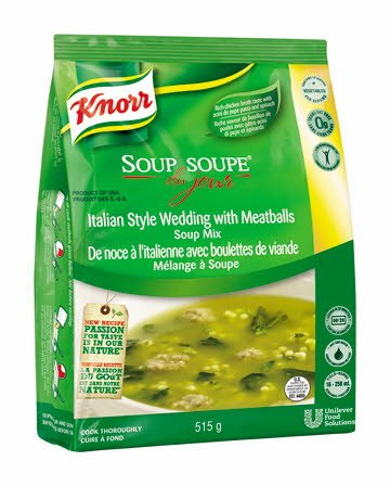 Knorr® Professionnel Soup Du Jour de noce a lítalienne avec boulettes de viande -