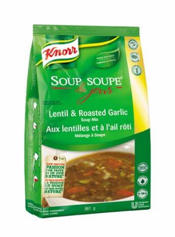 Knorr® Professionnel Soupe du Jour aux Lentilles et à l'Ail Rôti 4 x 861 gr -
