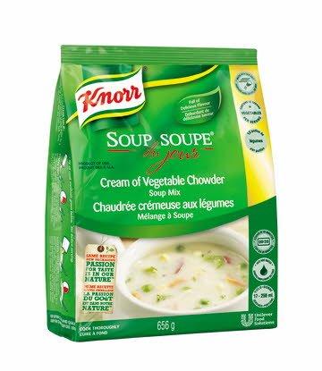Knorr® Professionnel Soupe du Jour Chaudrée Crémeuse aux Légumes 4 x 656 gr -