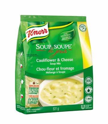 Knorr® Professionnel Soupe du Jour Chou-Fleur et Fromage 4 x 531 gr -