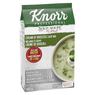 Knorr® Professionnel Soupe du Jour Crème de Brocoli 4 x 551 gr -