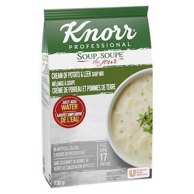 Knorr® Professionnel Soupe du Jour Crème de Poireau et Pommes de Terre 4 x 730 gr -