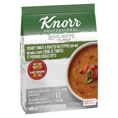 Knorr® Professionnel Soupe du Jour Crème de Tomates et de Poivrons Rouges Rôtis 4 x 486 gr -