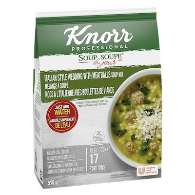 Knorr® Professionnel Soupe du Jour de Noce a l'Italienne avec Boulettes de Viande 4 x 515 gr -