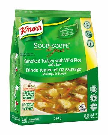 Knorr® Professionnel Soupe du Jour Dinde Fumée et Riz Sauvage 4 x 326 gr -