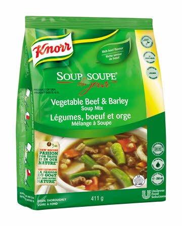 Knorr® Professionnel Soupe du Jour Légumes, Bœuf et Orge 4 x 411 gr -