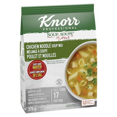 Knorr® Professionnel Soupe du Jour Poulet et Nouilles 4 x 378 gr -
