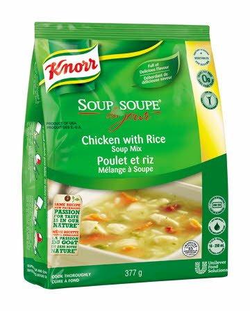 Knorr® Professionnel Soupe du Jour Poulet et Riz 4 x 377 gr -