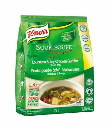 Knorr® Professionnel Soupe du Jour Poulet Gombo Épicé à la Louisiane 4 x 479 gr -