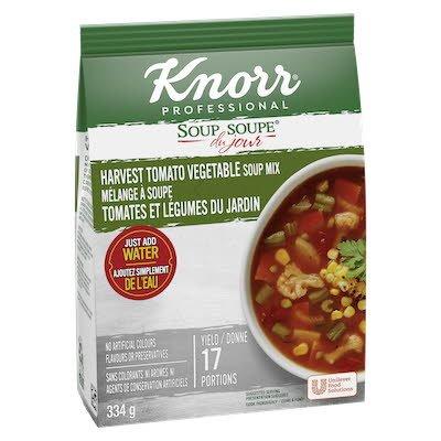 Knorr® Professionnel Soupe du Jour Tomates et Légumes du Jardin 4 x 334 gr -