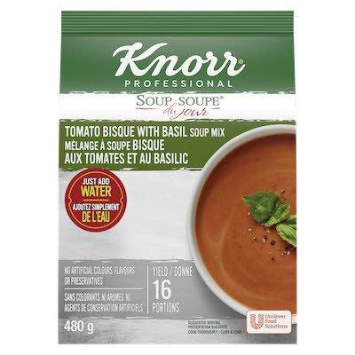 Knorr® Soup Du Jour Bisque aux Tomates et Basilic 4 x 480 gr -