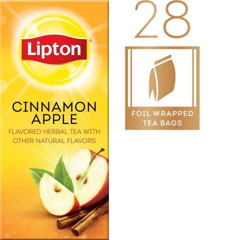 Lipton® Hot Cinnamon Apple Flavoured Herbal Tea 6 boxes, 28 bag count