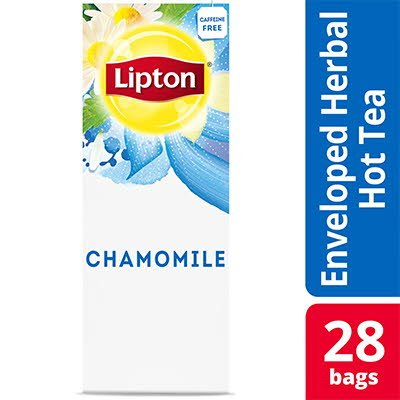 Lipton® Hot Tea Bags Enveloped Chamomile pack of 6, 28 count