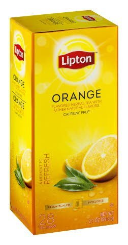 Lipton® Hot Tea Bags Enveloped Orange pack of 6, 28 count