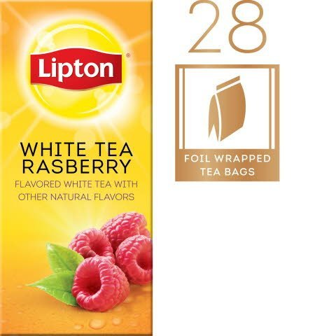 Lipton®  Hot White Tea with Raspberry 6 boxes, 28 bag count