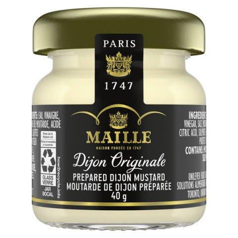 Moutarde de Dijon originale Maille, pots de 40 grammes de format service aux chambres, paquet de 72 -