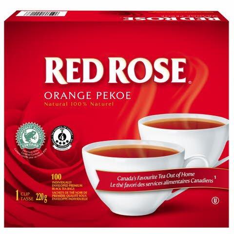 Red Rose® Thé noir Orange Pekoe, 100 unités -