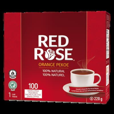 Red Rose® Thé Orange Pekoe 10 x 100 sachets par 1.5 tasses -
