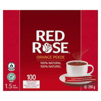 Red Rose® Thé Orange Pekoe 10 x 100 sachets par 1.5 tasses -