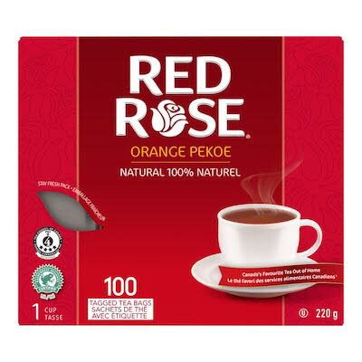Red Rose® Thé Orange Pekoe 10 x 100 sachets par 1 tasse -