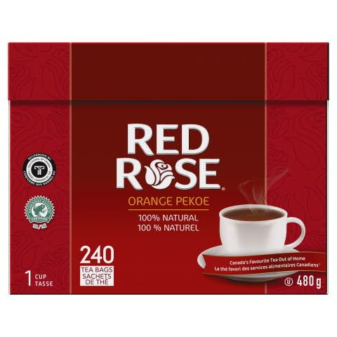 Red Rose® Thé Orange Pekoe 4 x 240 sachets par 1 tasse -